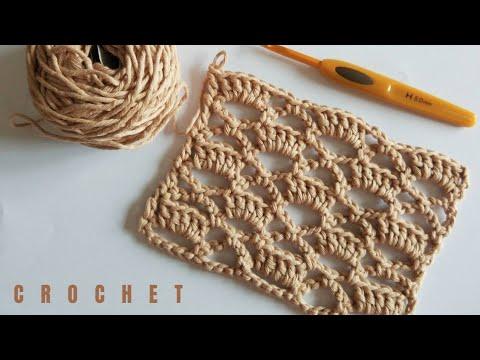 Punto de crochet calado fácil paso a paso en español para principiantes. Trenda Lerenda