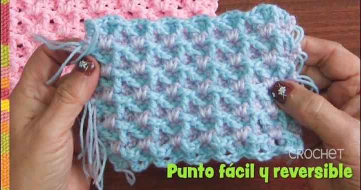 Punto fácil y reversible para colchitas de bebé tejido a crochet 👶🏻 / Tejiendo Perú