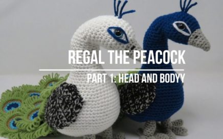 Regal the Peacock Crochet Amigurumi Pattern - Part 1: Head and Body