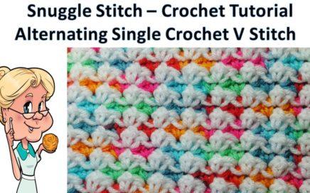 Snuggle Stitch (Alternating Single Crochet V Stitch) Crochet Tutorial - Stitch of the Week #27