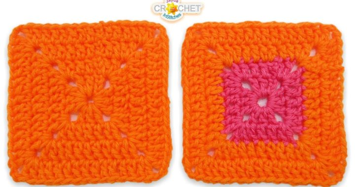 Solid Double Crochet Granny Square - Beginners Pattern & Tutorial