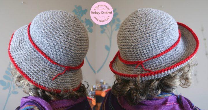 Sombrero a crochet Nº 2 paso a paso (Version diestra)