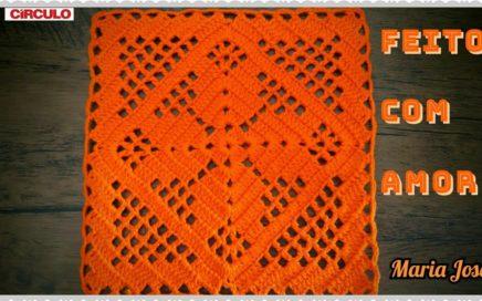 Square mil e uma utilidade em crochê com Maria José.