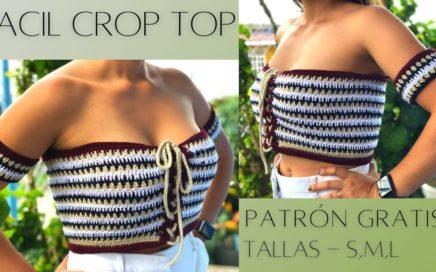 Strapless Crop Top a crochet paso a paso   Fácil y Rápido, DESPACITO   tallas Small, Medium y Large