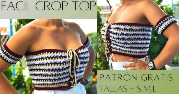 Strapless Crop Top a crochet paso a paso | Fácil y Rápido, DESPACITO | tallas Small, Medium y Large