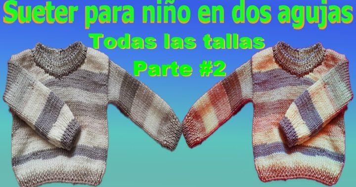 Sueter Jersey para niños tejido en dos agujas Todas las tallas Parte #2 / Gentleman's sweater