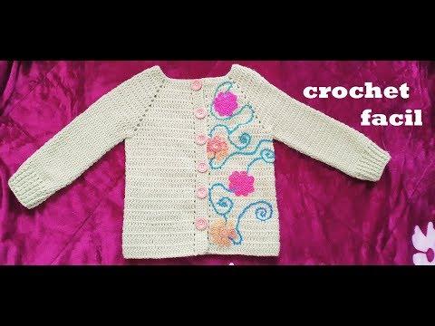 Sueter a crochet facil paso a paso