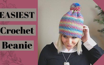 Super Simple Single Crochet Beanie Tutorial For Absolute Beginner Crocheter