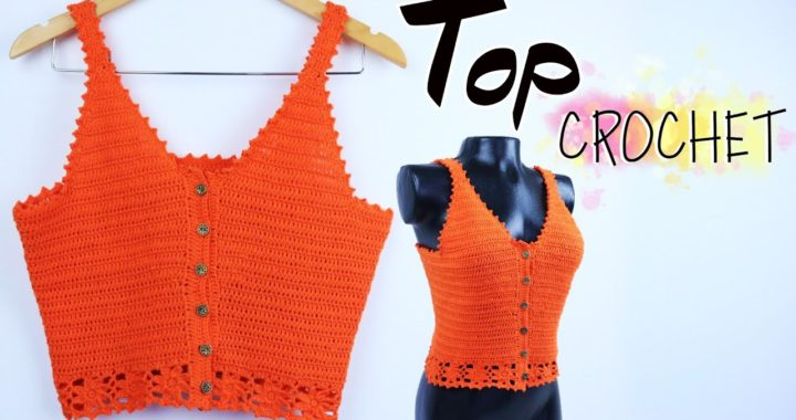 TOP CROCHET Blusa Tejida Ideal para PRINCIPIANTES
