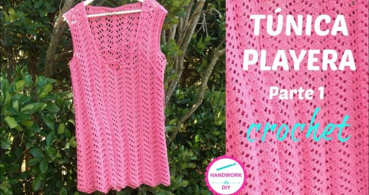TÚNICA CROCHET PARA PLAYA TUTORIAL N°1