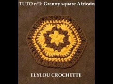 TUTO crochet :  Granny square Africain n°1 ! / crochet tutorial: African granny square n°1