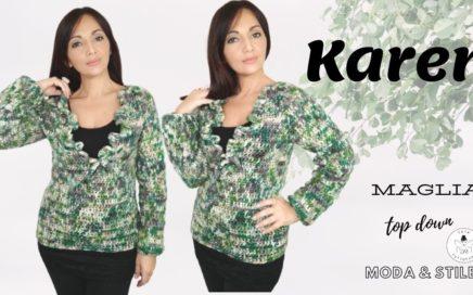 TUTORIAL: Maglia uncinetto Karen ⭐lafatatuttofare
