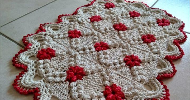 Tapete de Crochê em Ponto Pipoca/ Parte 1 Execução e união dos Squares