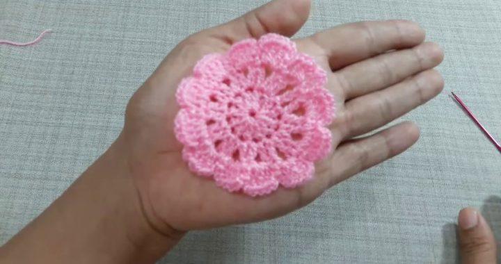 Tejiendo en vivo 2 modelo de tapete en crochet