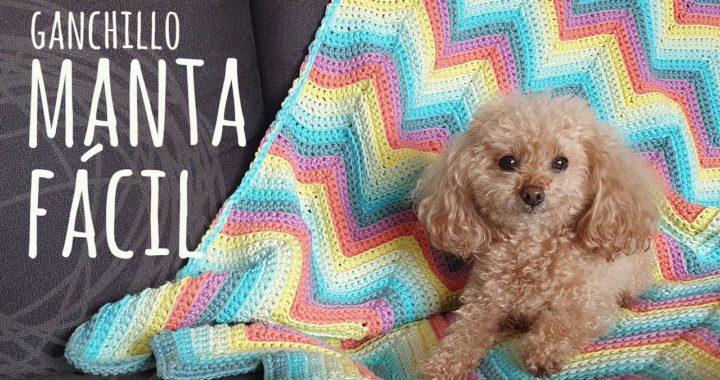 Tutorial Manta MUY FÁCIL ZigZag | Ganchillo o Crochet | Lanas y Ovillos