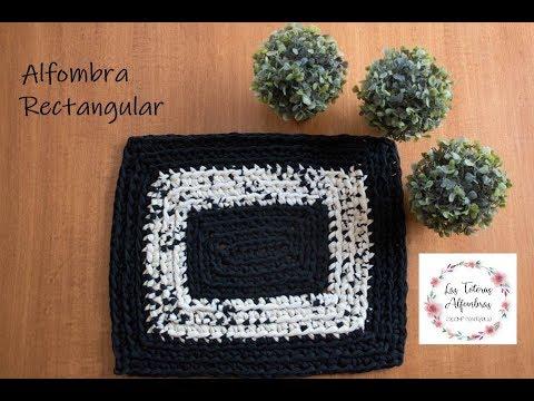 Tutorial alfombra rectangular - Crochet con totora/ trapillo | Las Totoras Alfombras