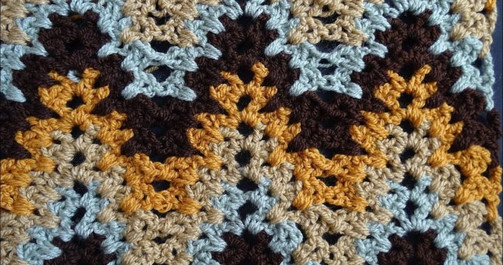 V Stitch Ripple Crochet Stitch - Right Handed Crochet Tutorial