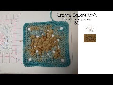 Vídeos de andar por casa 82 - Granny Square 5/a (crochet)