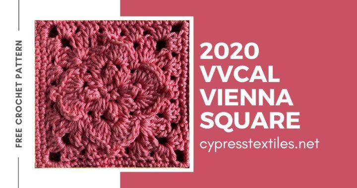 Vienna Square - 2020 VVCAL - Free crochet motif granny square