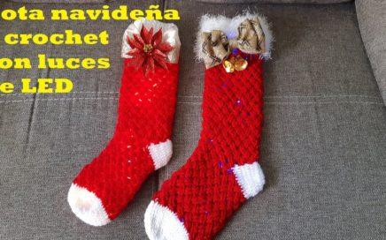 botas navideñas a crochet - tutorial paso a paso -