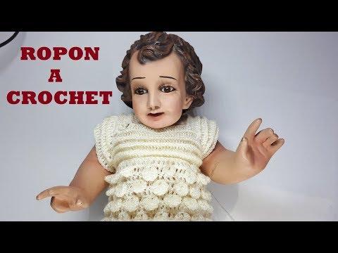 conjunto a crochet - para niño Dios - tutorial - tejido - ganchillo - parte #1