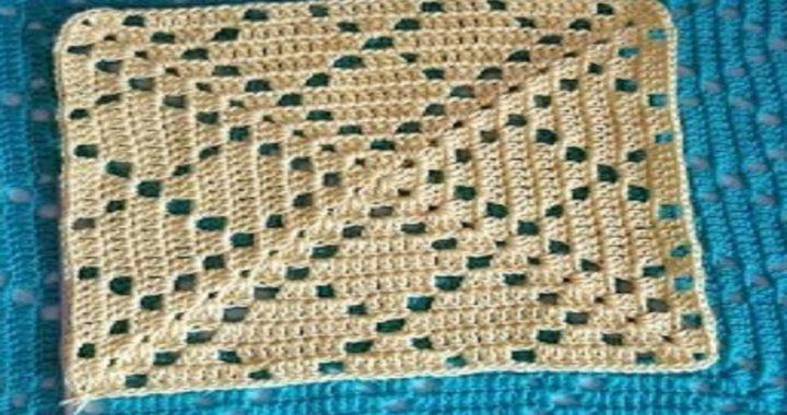 cuadrado a crochet - granny square to crochet - Ganchillo todo en crochet