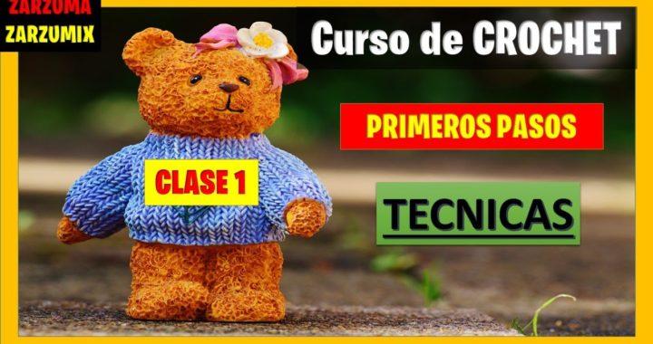 🎁curso BASICO para CROCHET🎁PRINCIPIANTES CLASE 1 primeros PASOS tutorial #tejido #crochet #podcast