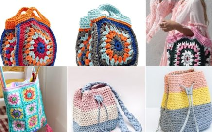 outstanding crochet knitting granny square hand bags designs and pattern with new ideas 2021