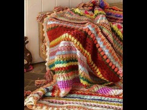 كروشية:بطانية كروشية سهلة جدا للمبتدئين  الجزء الأول  crochet blanket part 1
