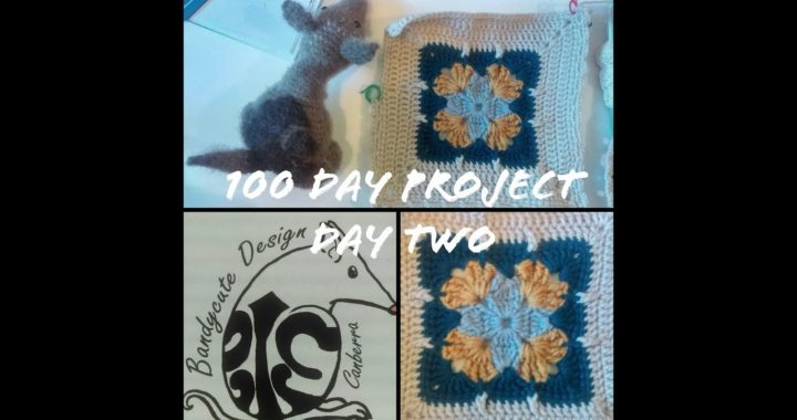 100 Day Project: 100 crocheted square patterns. Day Two: Part 2. 21 January 2019
