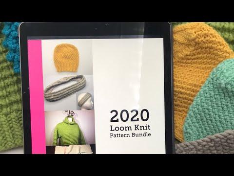 16 Loom Knit Pattern Bundle with videos (2020 Loom Knit Pattern Bundle