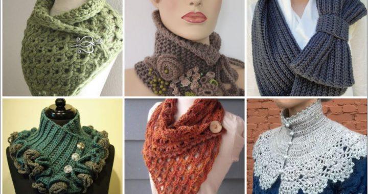 45 diseños de cuello de patrones de ganchillo de alto rango para niñas y mujeres # corto#short