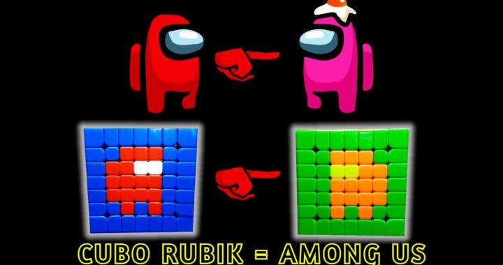 🔴 Among us  [Cubo Rubik]   Patrón  Fácil 😃Rápido🚀🌟🌟🌟
