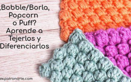 Aprende Diferenciar los Puntos Bobble, Popcorn y Puff   Aprende Crochet Paso a Paso #crochet