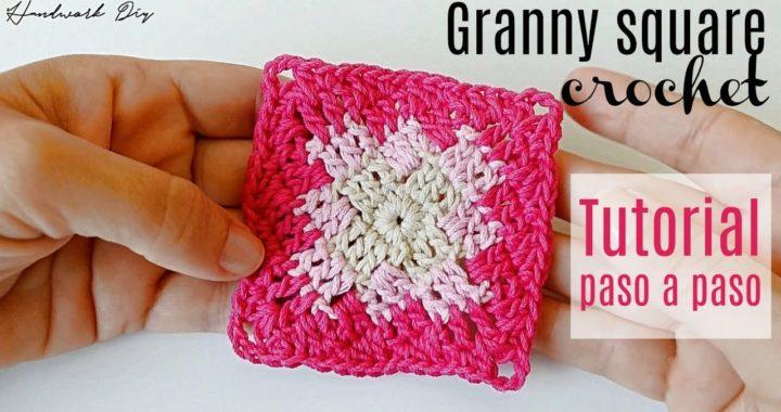 Aprende a tejer cuadrado a crochet muy fácil | Handwork Diy