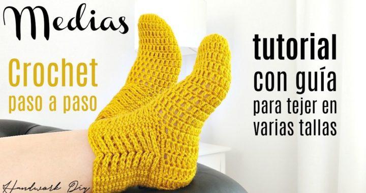 Aprende a tejer medias a crochet paso a paso | Handwork Diy