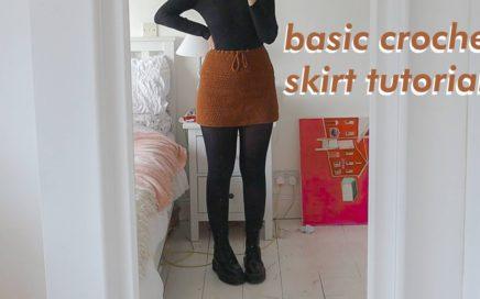 BASIC Crochet Skirt Tutorial   DIY