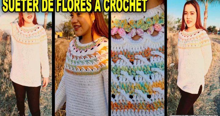 BLUSA - SUETER DE FLORES A CROCHET | SWEATER TO CROCHET |