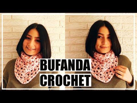 BUFANDA a crochet (GRANNY SQUARE)