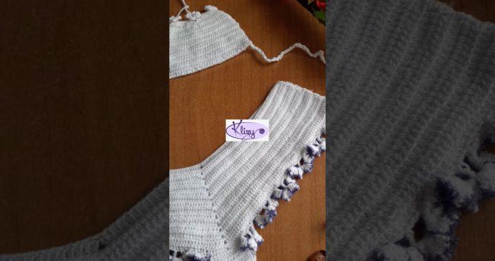 Bikini cuadrados en crochet