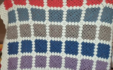 Blocking - Granny Square Blanket Crochet-a-long Complete