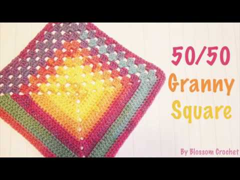 Blossom Crochet: The 50/50 Granny Square - 1 square, 2 designs!