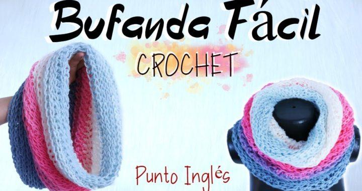 Bufanda a Crochet Fácil y Rápido   Cuello Tejido   02 HORAS 😎
