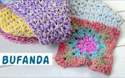 Bufanda fácil ganchillo  |crochet fácil