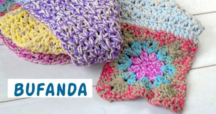 Bufanda fácil ganchillo   crochet fácil