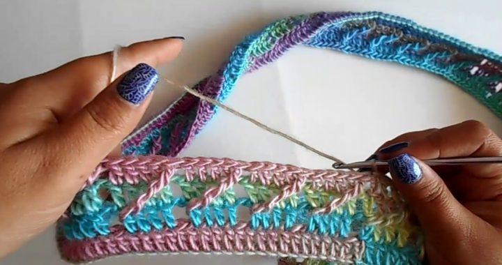 Bufanda infinita a crochet paso a paso facil y rapido / punto diagonal a crochet