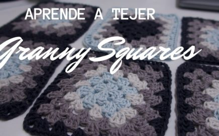 CROCHET: Como TEJER GRANNY SQUARES - How To Crochet The Basic Granny Square FACIL-PARA PRINCIPIANTES