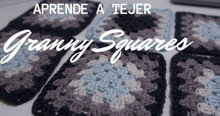 CROCHET: Como TEJER GRANNY SQUARES - How To Crochet The Basic Granny Square FACIL-PARA PRINCIPIANTES