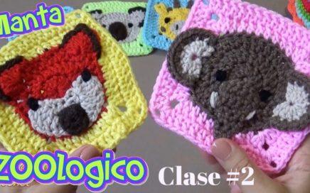 CROCHET MANTA ZOOLOGICO - CLASE #2. ZORRITO Y ELEFANTE