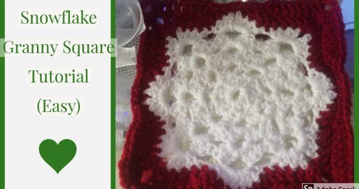 CROCHET: Snowflake Granny Square Tutorial